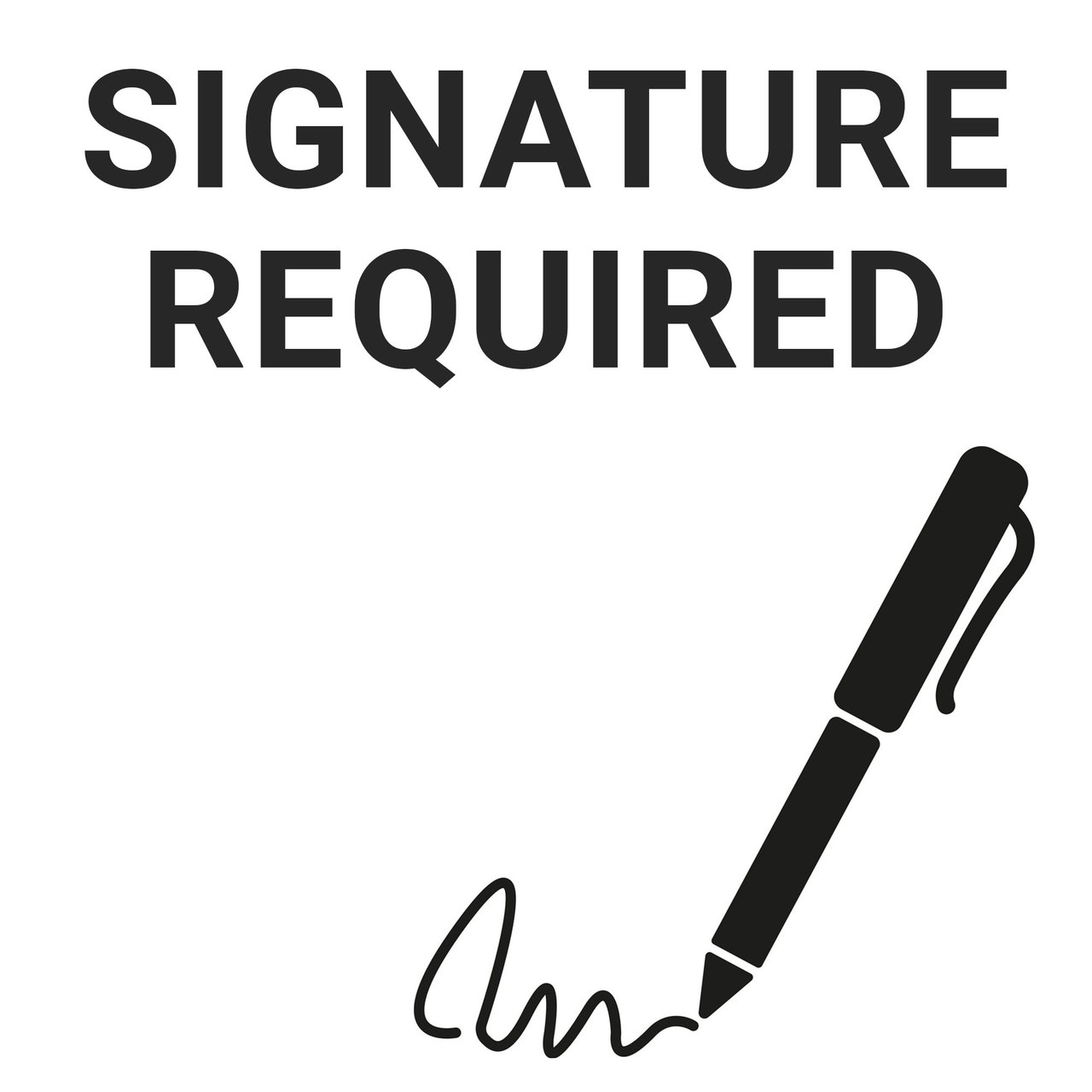 Signature required at delivery + $6.00